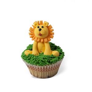 Cupcake με διακόσμηση Λιοντάρι