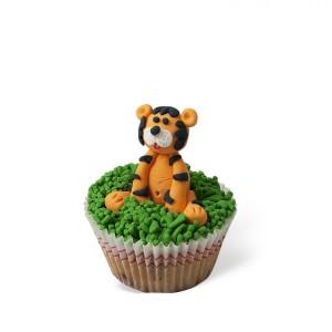 Cupcake με διακόσμηση Τίγρης