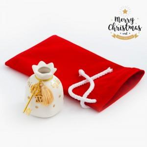 Χριστουγεννιάτικο Γούρι Με Βελούδινο Πουγκί