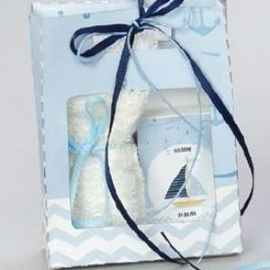 μπομπονιέρα τσαντάκι με πετσέτα & σαπουνάκι