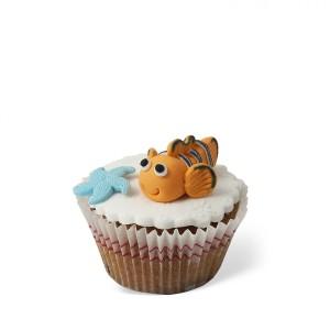 Cupcake με διακόσμηση Ψαράκι