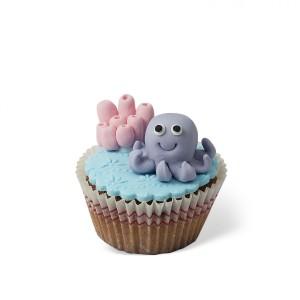 Cupcake με διακόσμηση Χταπόδι