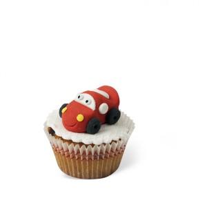 Cupcake με διακόσμηση Αυτοκίνητο κόκκινο